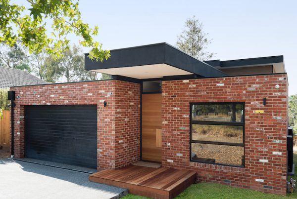 Front facade showcasing Recycled red bricks